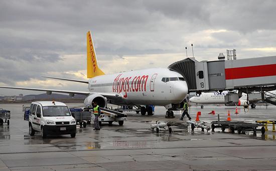 Пассажирский самолет авиакомпании Pegasus Airlines