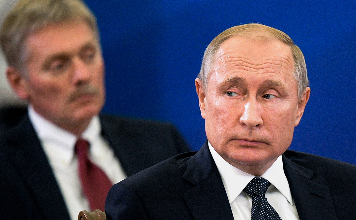 Дмитрий Песков и Владимир Путин