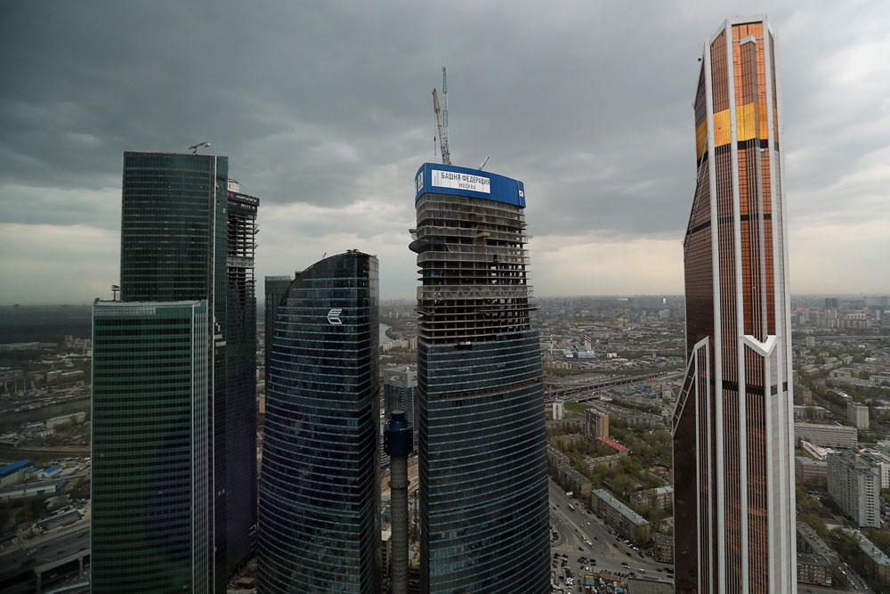 Строительство небоскреба «Башня Федерация»
