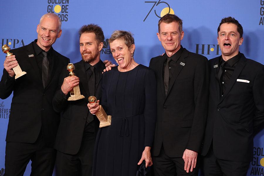 Режиссер Мартин Макдонахи актеры фильма «Три билборда на границе Эббинга, Миссури», получившего приз как лучший фильм-драма