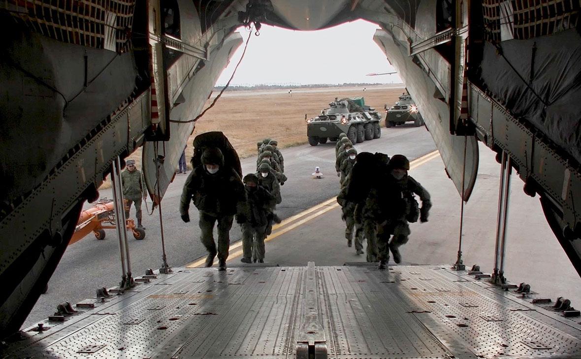 Отправка российского миротворческого контингента в Нагорный Карабах