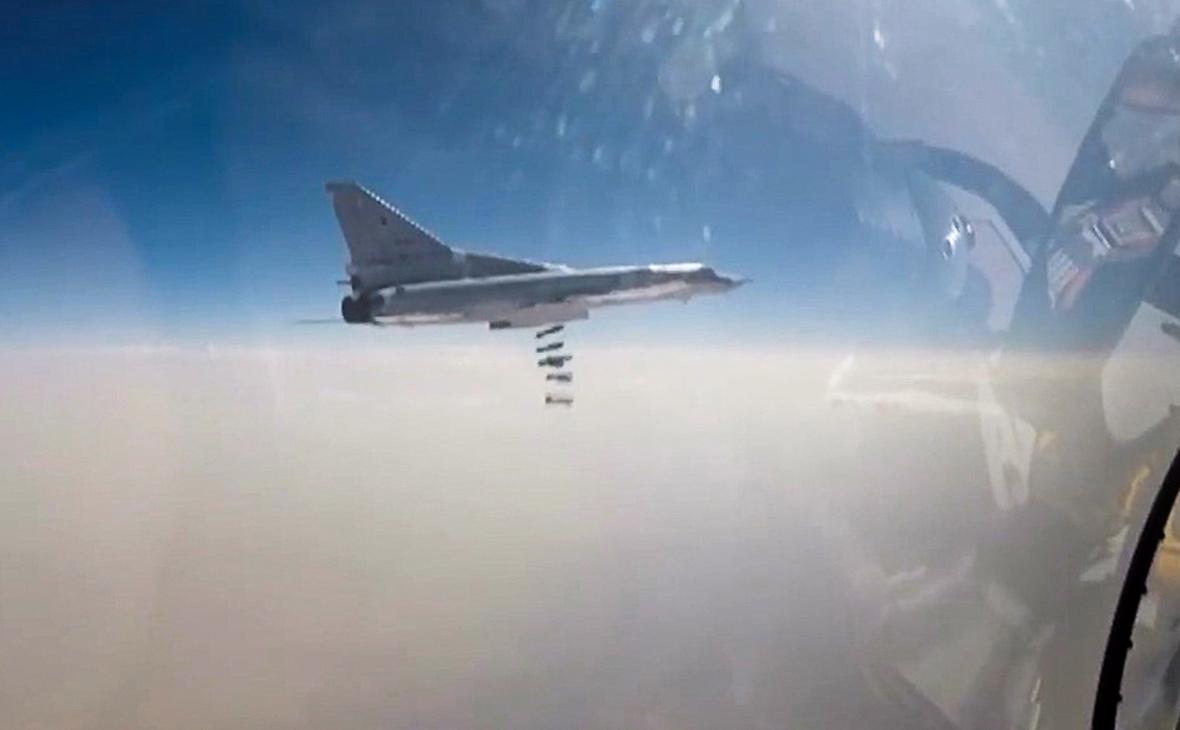 Бомбардировщик Ту-22М3 ВКС России. 4 ноября 2017 года