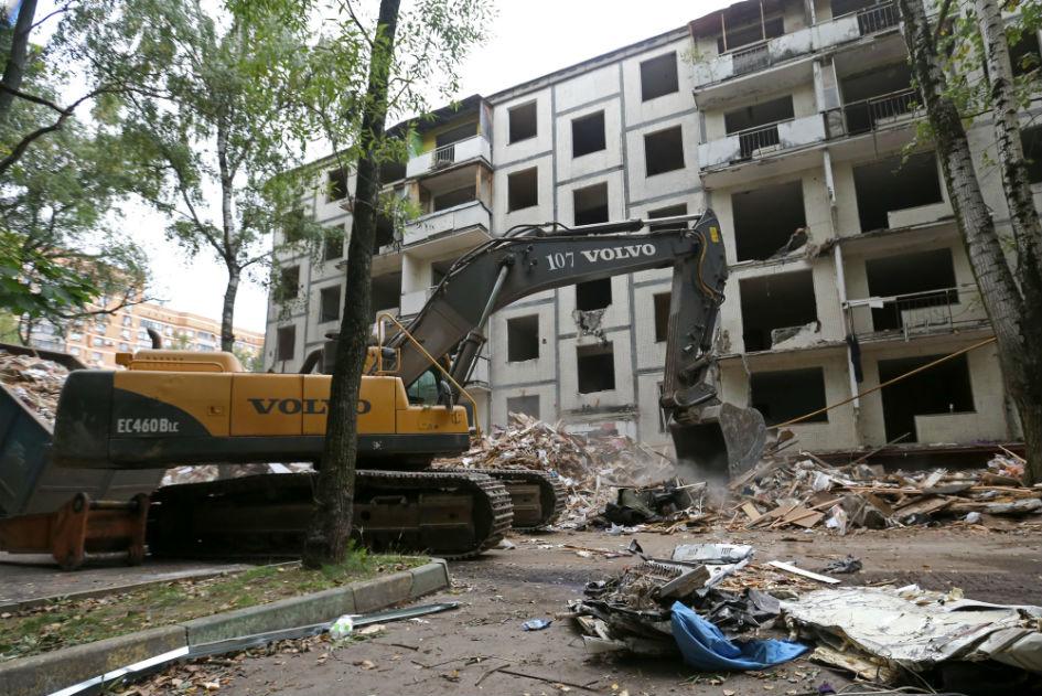 Снос пятиэтажек в рамках программы реновации в Москве