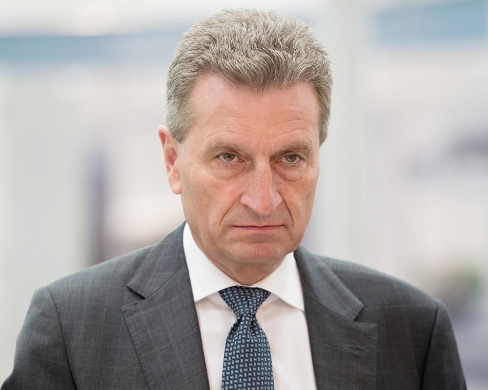 Еврокомиссар Гюнтер Эттингер