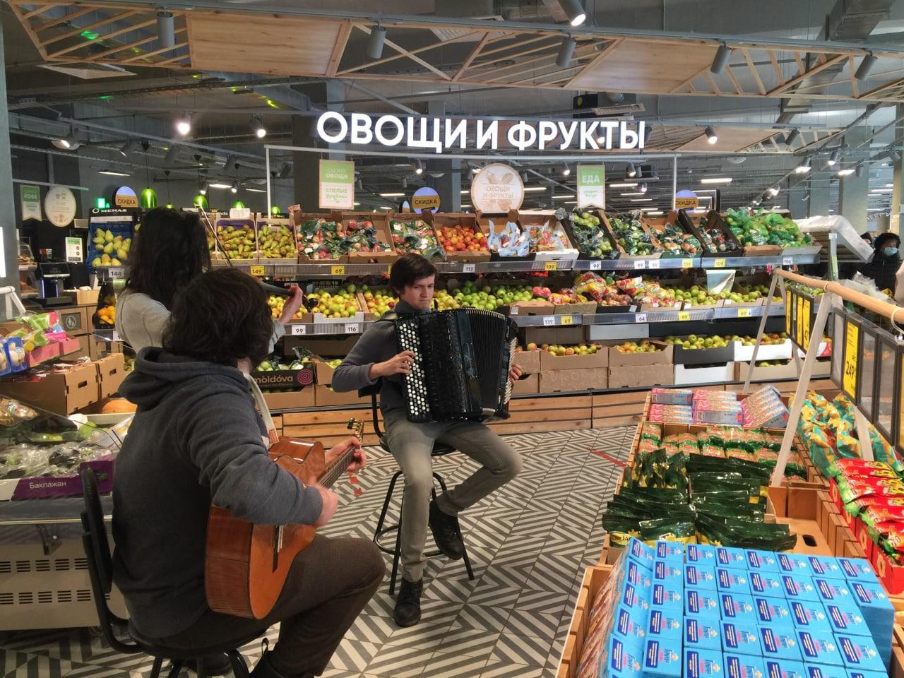 Концерт в магазине в Гольянове