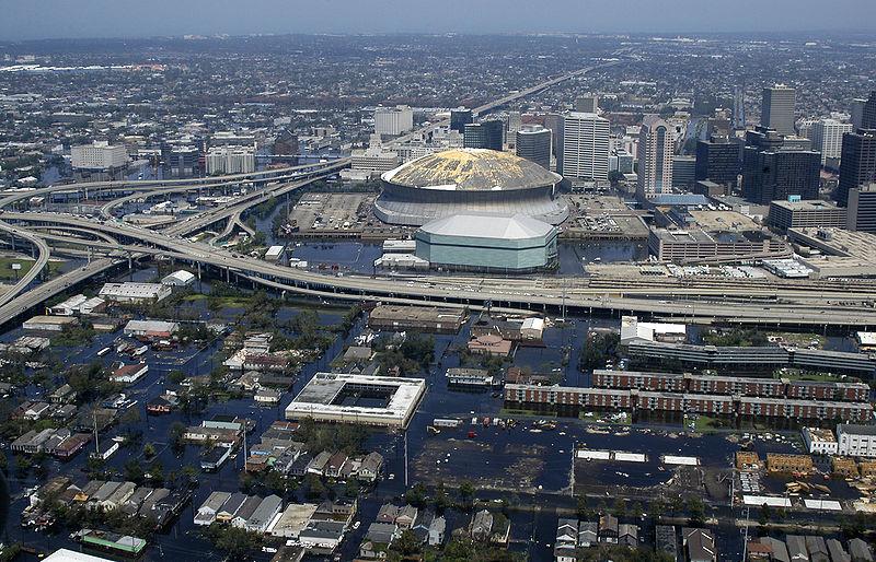 Затопленный Новый Орлеан в 2005 году