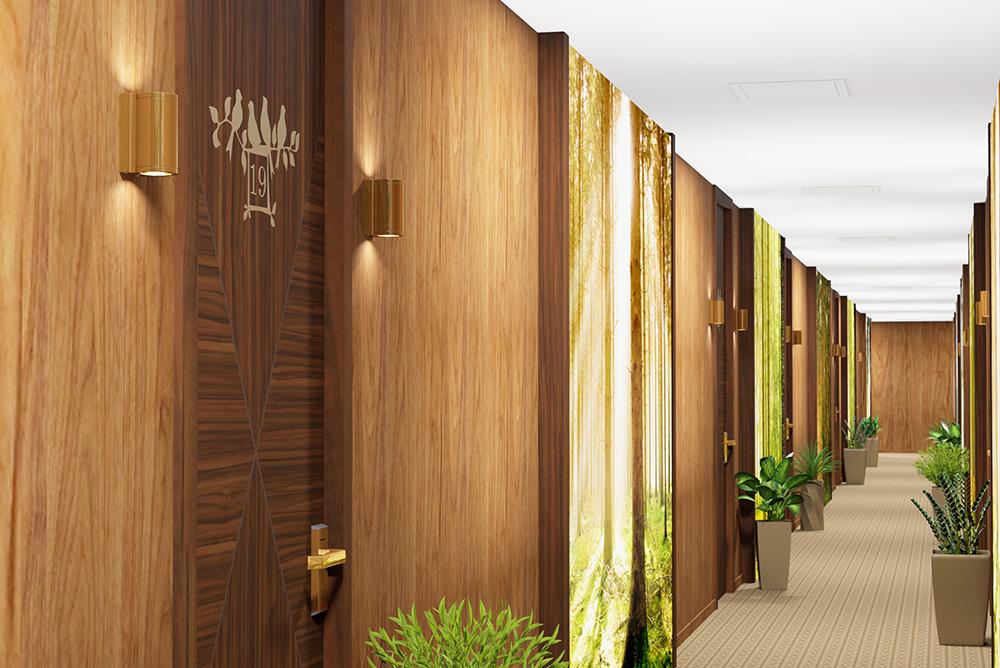 Дизайн коридора на этаже