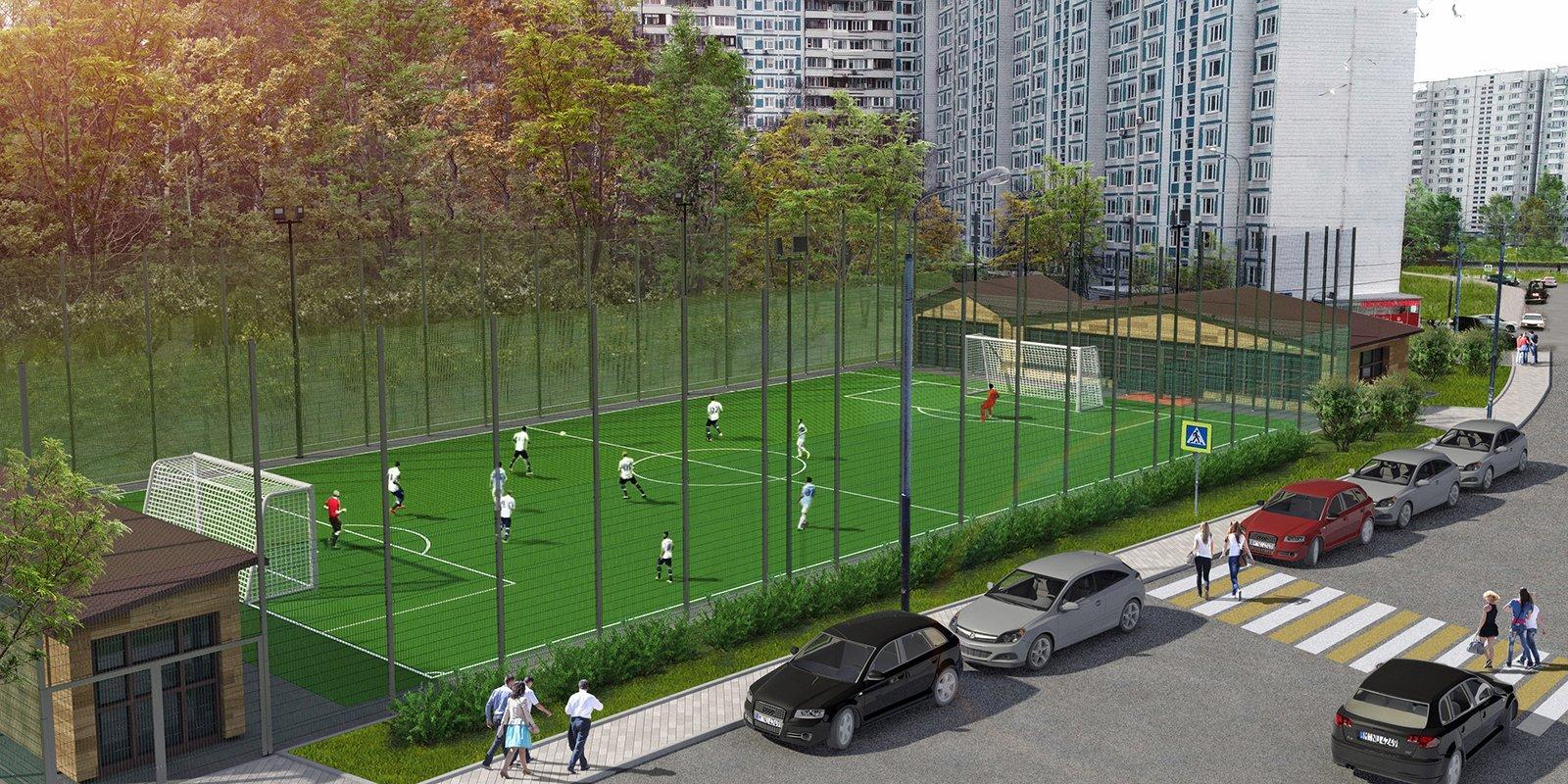 Проект спортивной площадки в районеЧертаново Южное