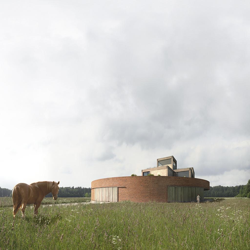 Проект загородного дома — «Усадьба Ostrov»