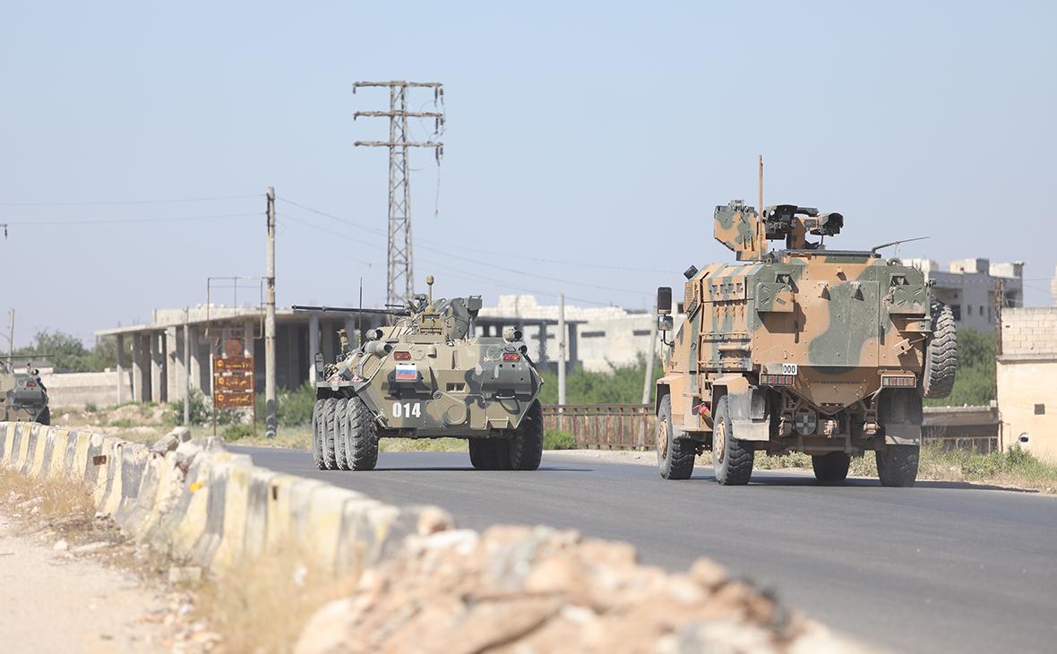 Российско-турецкое патрулирование вИдлибе