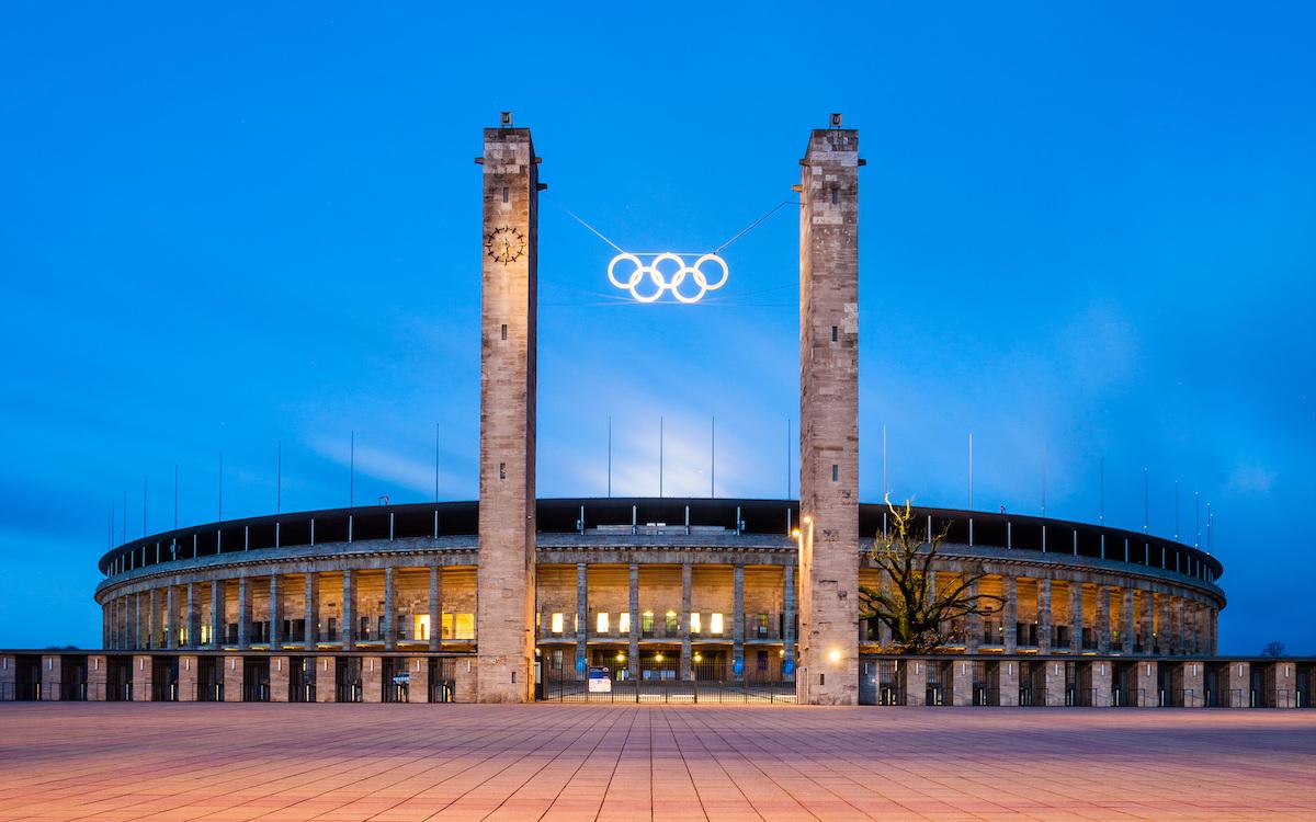 Олимпийский стадион в Берлине, построенный для проведения Игр 1936 года