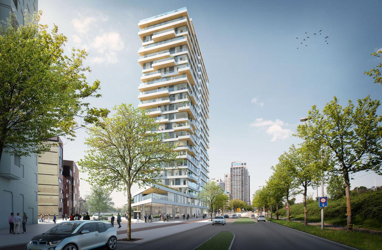 Псевдослучайное расположение балконов Haut призвано избавить фасад здания от монотонности