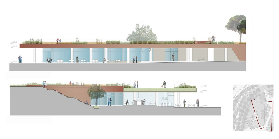 Визуализация проекта амфитеатра иресторана
