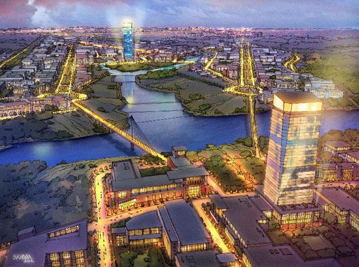 По предложению Urban Design Associates из США федеральный центр должен разместиться в Коммунарке и стать главным ядром развития новых территорий