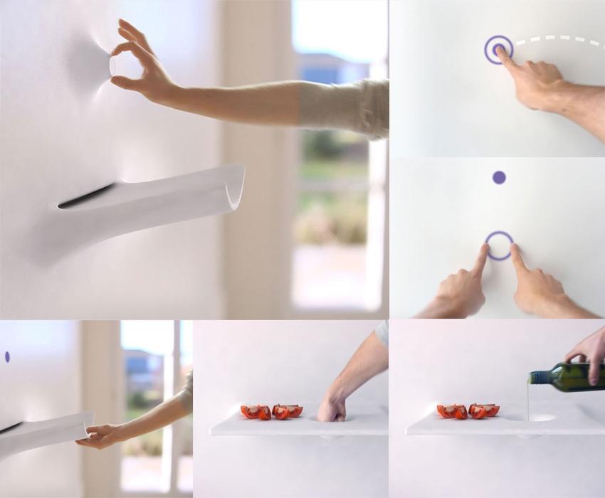 Проект Living Kitchen дизайнера Михаэля Харбоуна предполагает создание с помощью нанотехнологий материала, из которого можно «лепить» отдельные необходимые бытовые элементы
