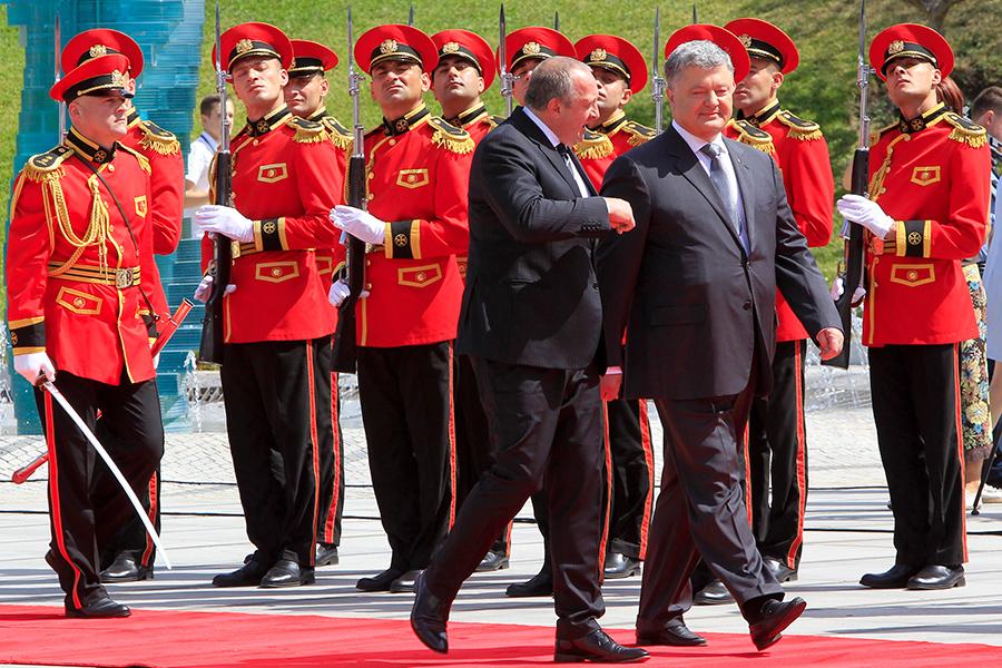 Георгий Маргвелашвили и Петр Порошенко