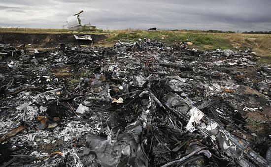 Место крушения самолета Boeing 777