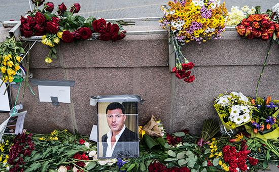 Место гибели Бориса Немцова. Архивное фото