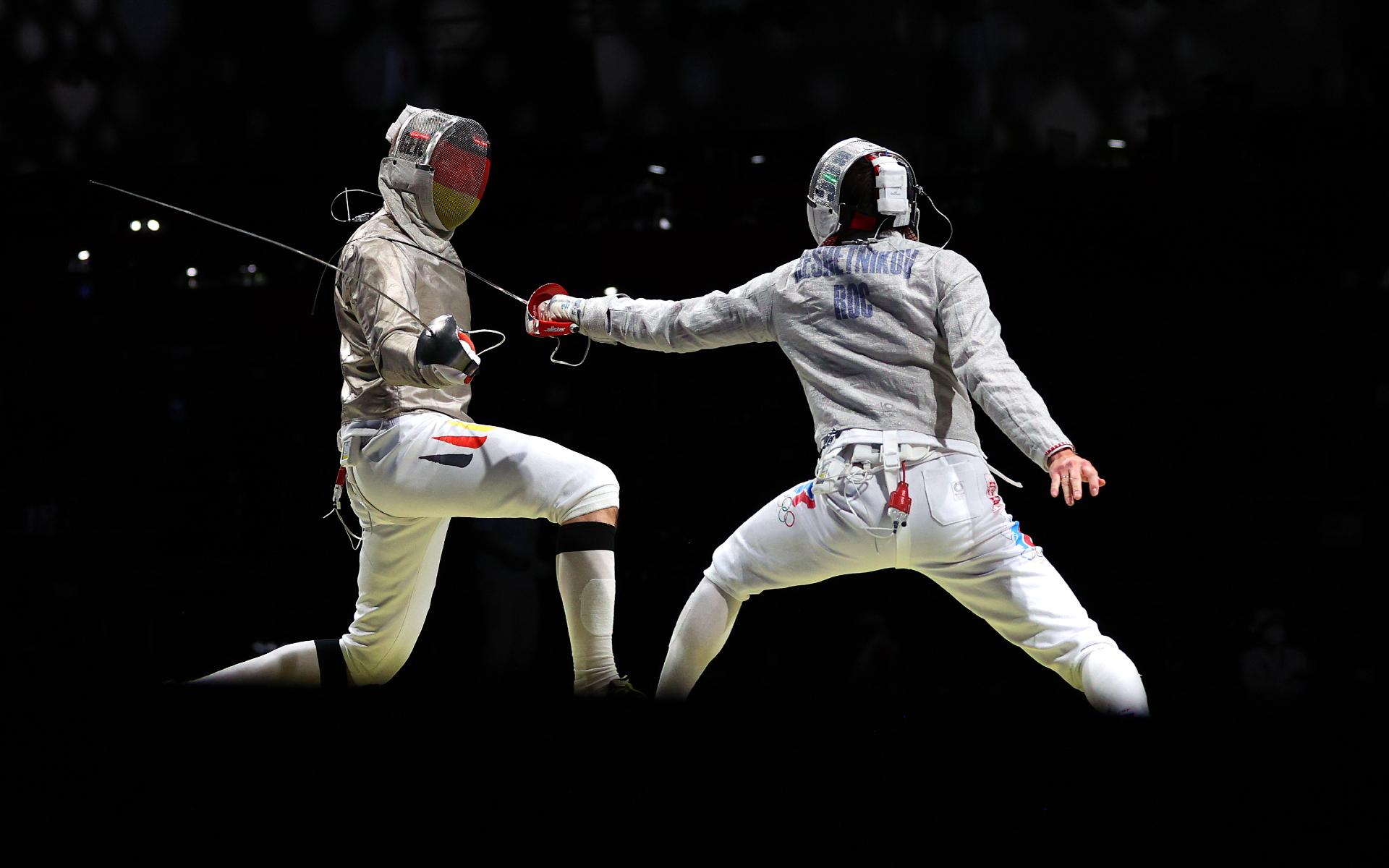 Фото: Вениамин Решетников против немца Бенедикта Вагнера на Олимпиаде в Токио  (Photo by Patrick Smith/Getty Images)