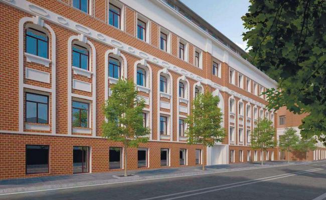 Визуализация четырехэтажного корпуса фабрики «Рот Фронт» после реконструкции