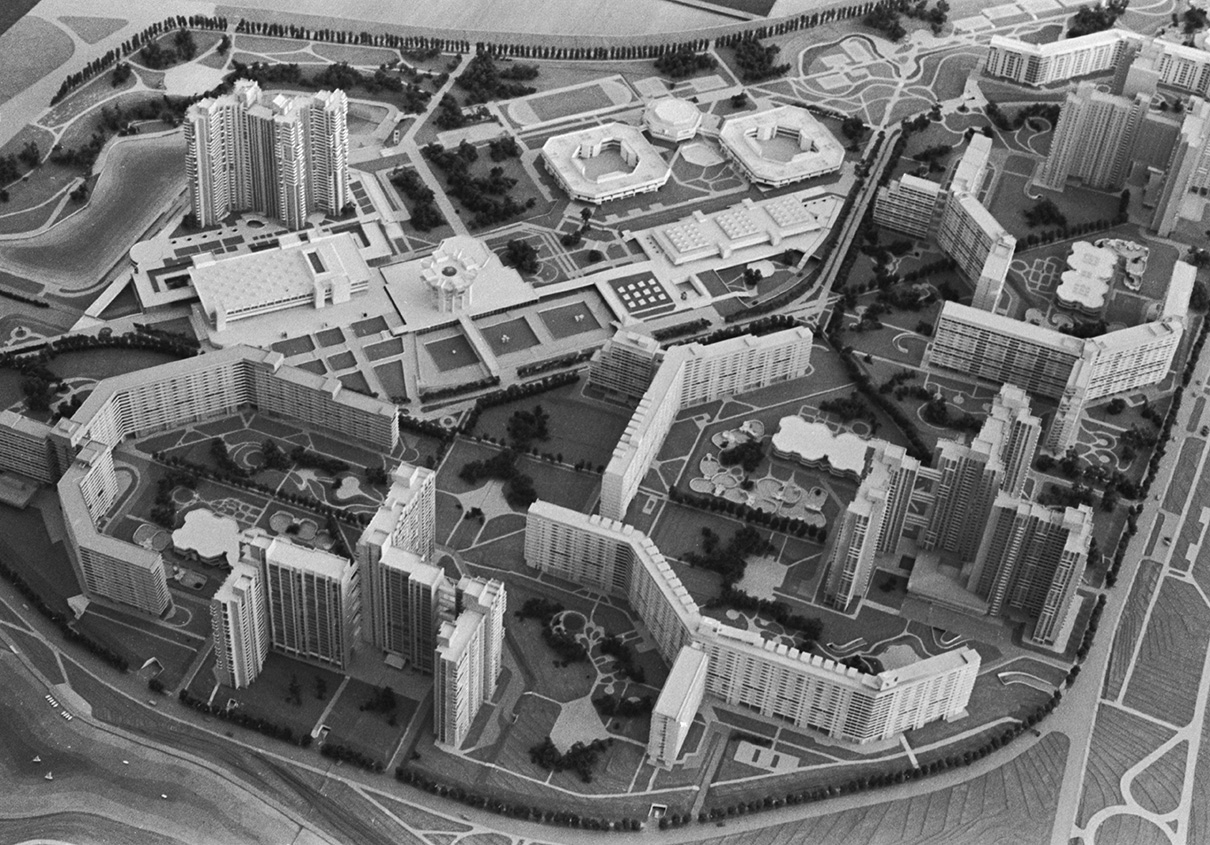 Макет застройки жилого района СеверноеЧертаново. 1980 год