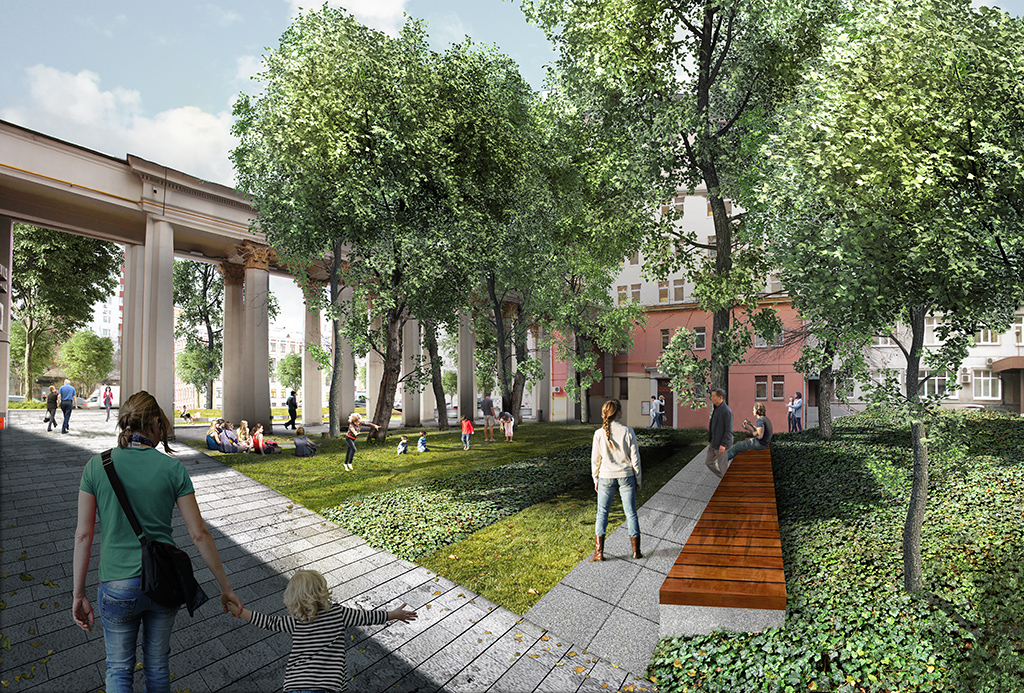 Благоустройство затронет идворы домов наСадовом кольце. На фото—двор дома наЗубовской площади