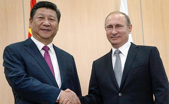 Си Цзиньпин и Владимир Путин (слева направо)