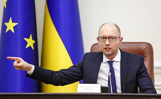 Глава правительства Украины Арсений Яценюк
