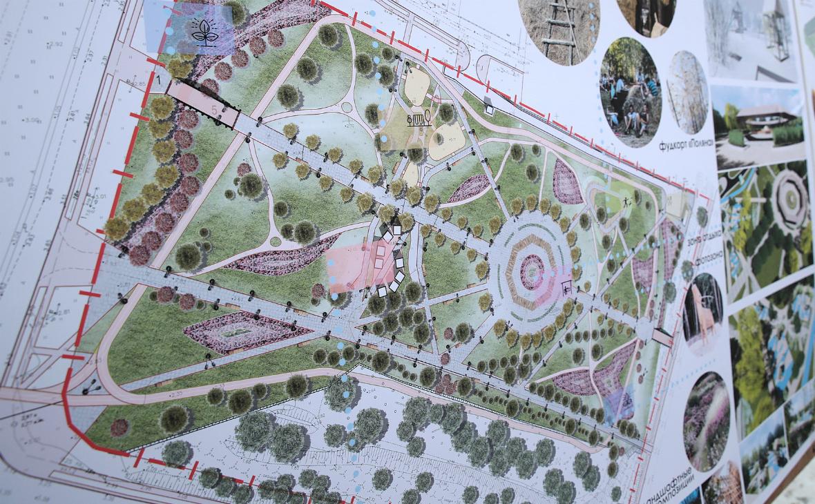 Благоустройство парка в Старочеркасской завершится в августе 2018г.