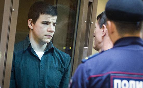 Один из организаторов банды националистов БОРН Никита Тихонов