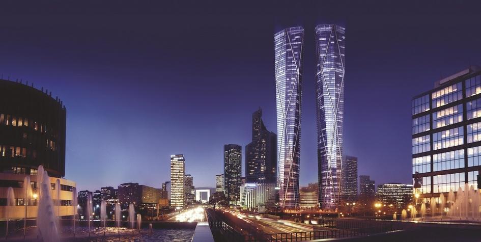 Проект небоскребов Hermitage Plaza впарижском пригороде Ля-Дефанс