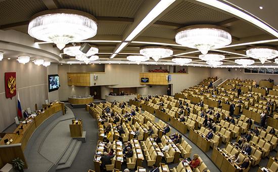 Зал заседаний Государственной думы РФ
