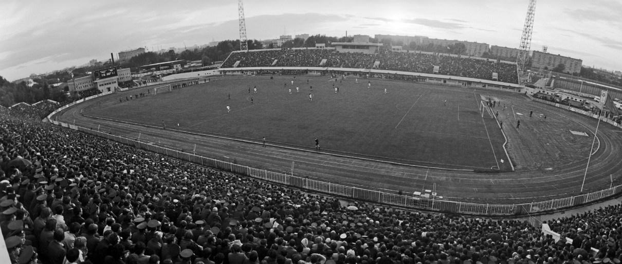 Общий вид стадиона «Торпедо» во время финального матча на Кубок СССР. 1978 год