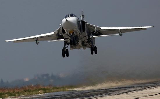Самолет российской авиагруппыв Сирии