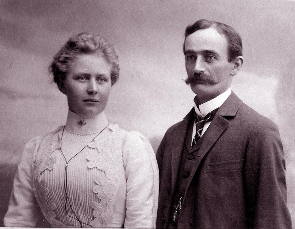 Элизабет и Фридрих Трамп в 1918 году