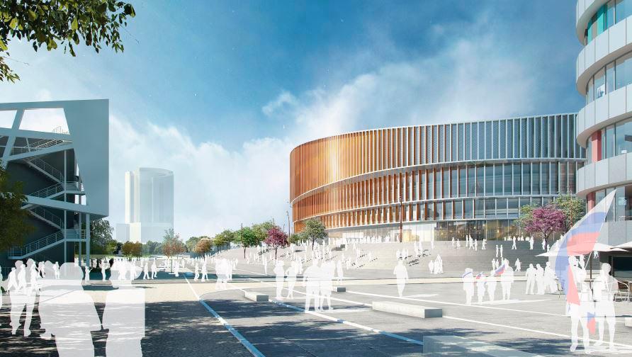Проект строительства ледовой арены на месте сносимой телевышки