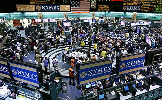 Во время работы Нью-Йоркской товарной биржи (NYMEX)