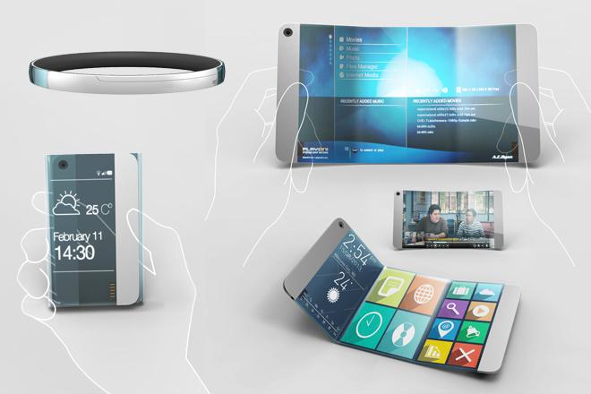 Художественная визуализация проекта смартфона будущего (2012 год)