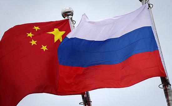 Флаги Китая и России