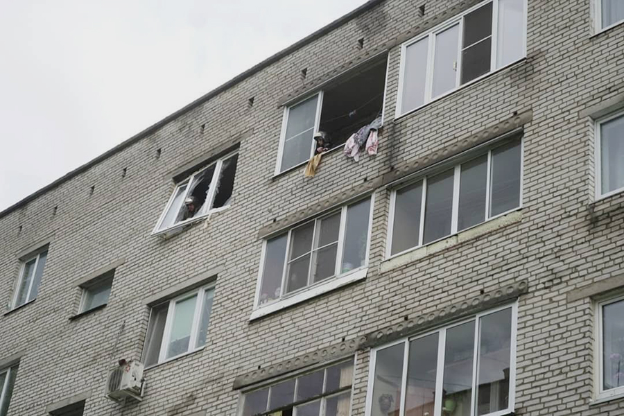 Взрыв бытового газа, в двухкомнатной квартире