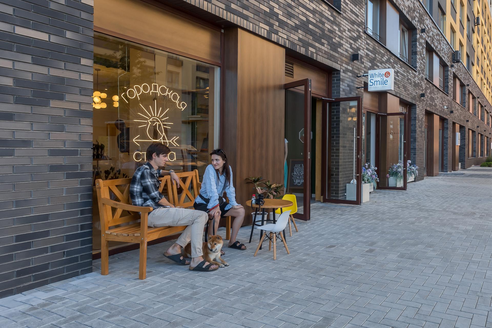 Пример оформления первых этажей в новостройках «Брусники» в Новосибирске