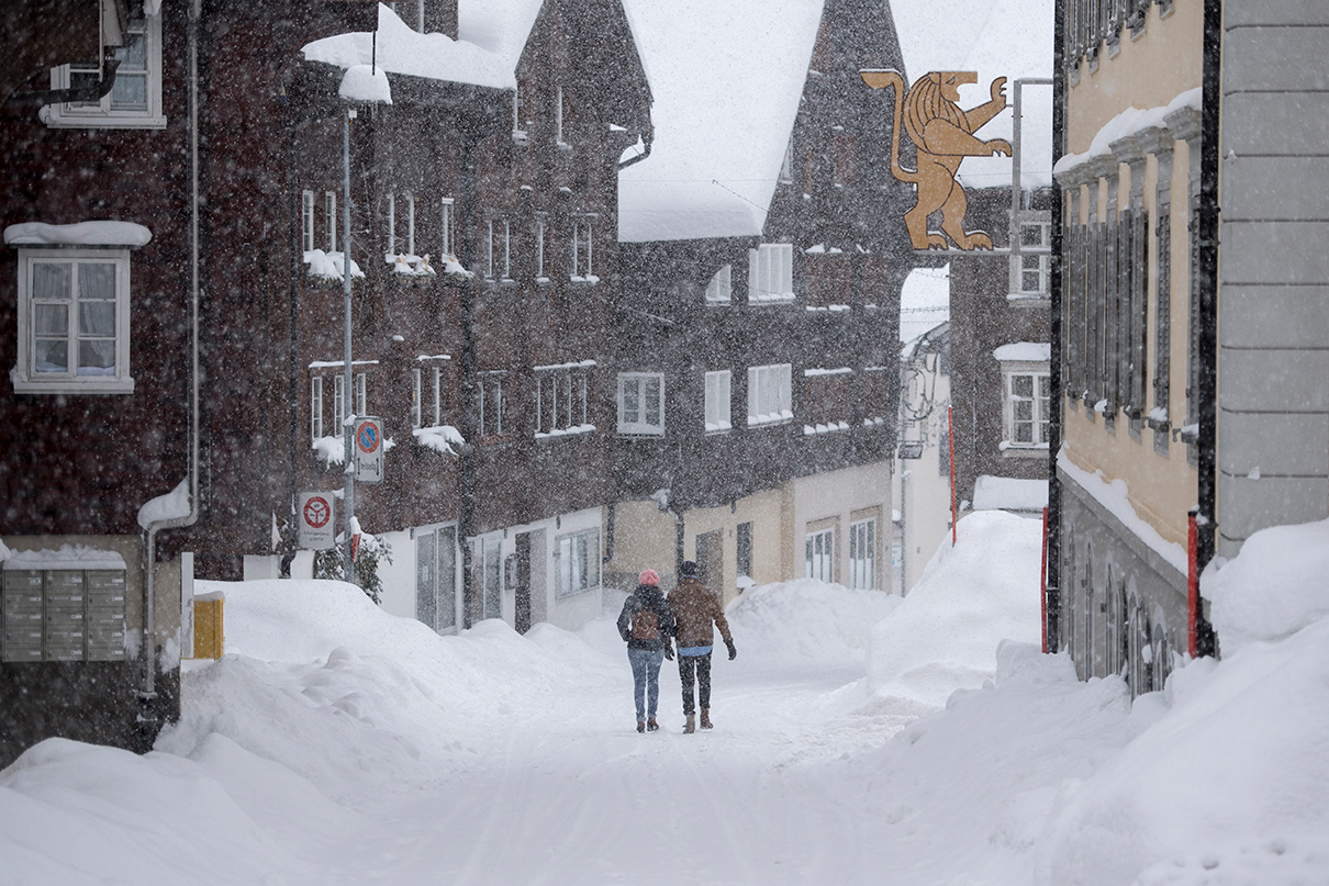 Снегопад в Андерматте
