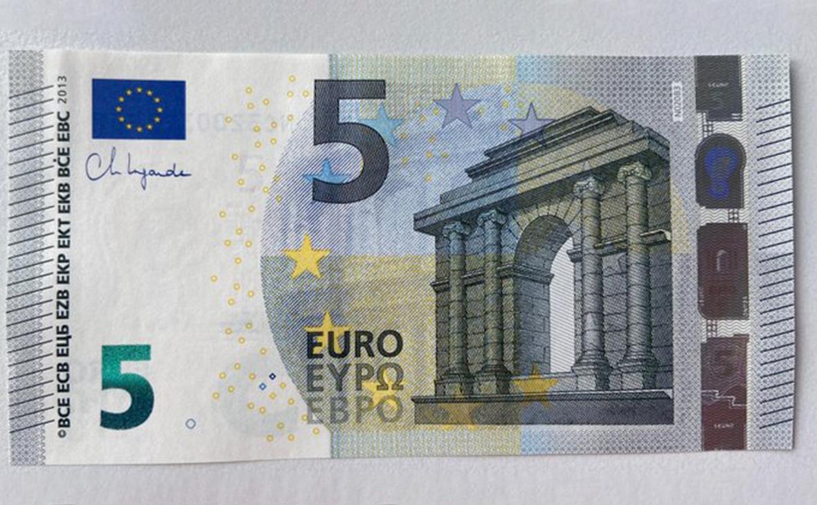 Банкнота с подписьюКристин Лагард
