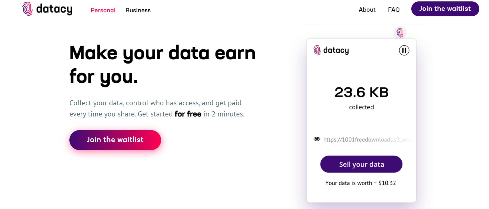 Интерфейс Datacy