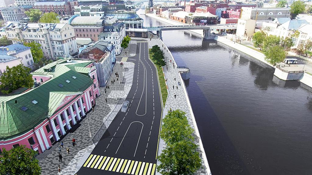 Проект благоустройства Якиманской набережной