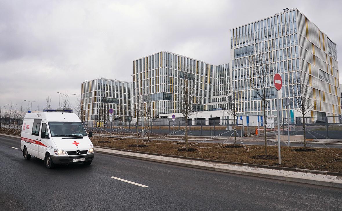Многопрофильный медицинский центр «Новомосковский» в Коммунарке, куда госпитализируют пациентов с подозрением на коронавирус COVID-19