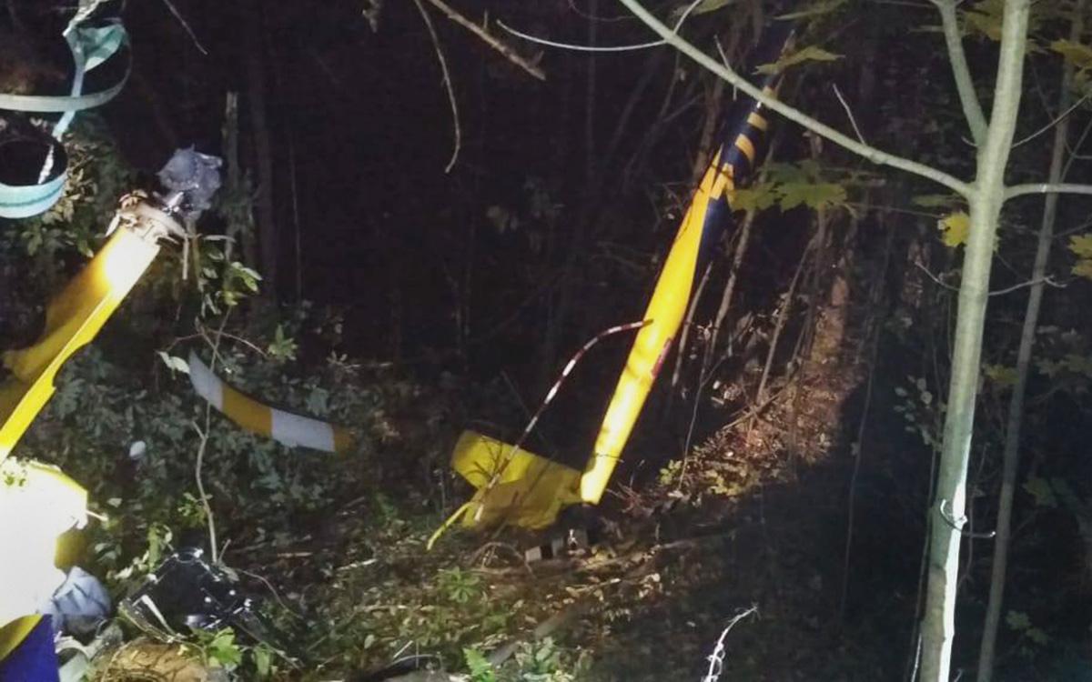 СК завел дело после крушения вертолета в Подмосковье
