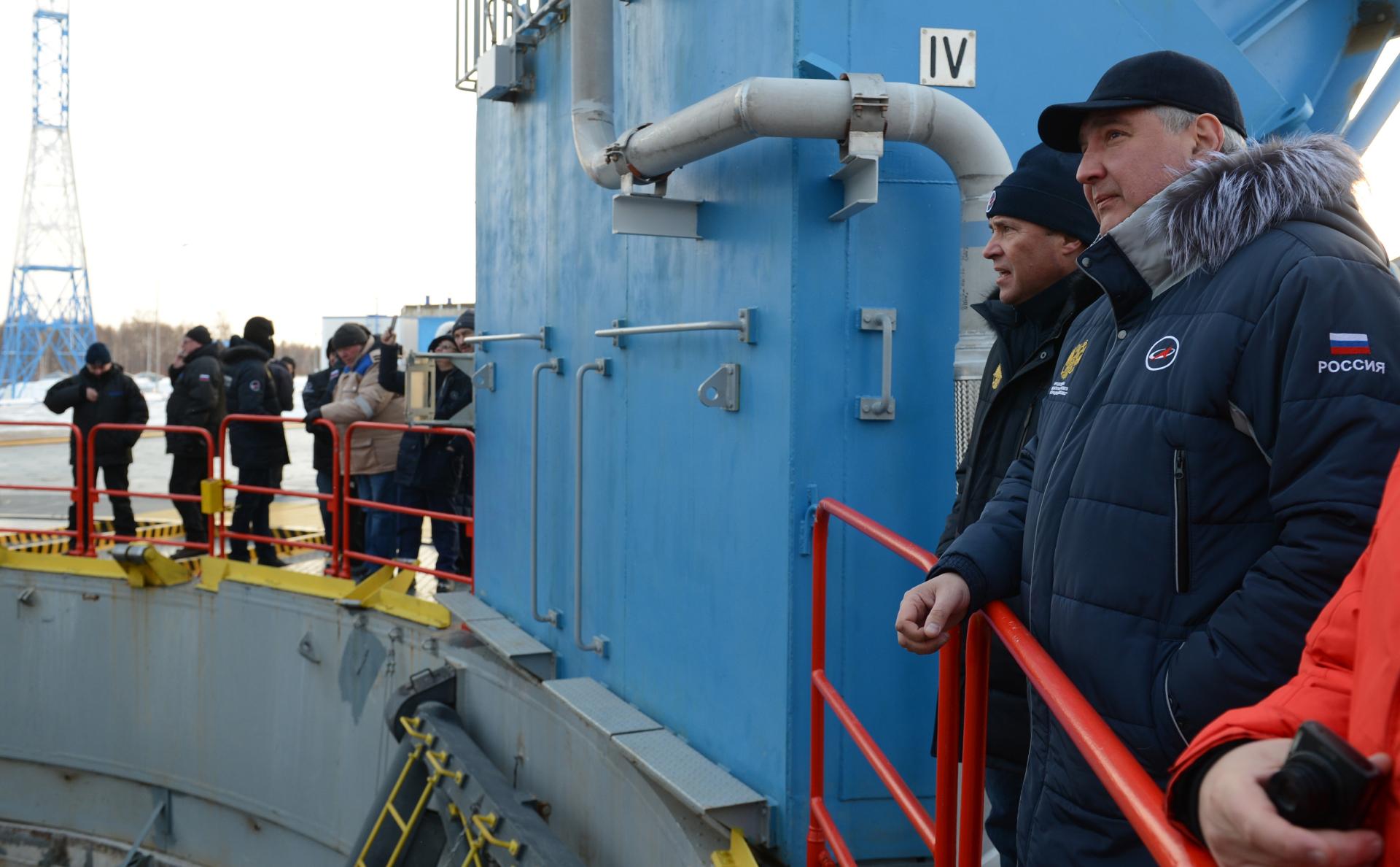 Дмитрий Рогозин на космодроме Восточный