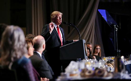 Президент США Дональд Трампво время Национального молитвенного завтрака. 2 февраля 2017 года