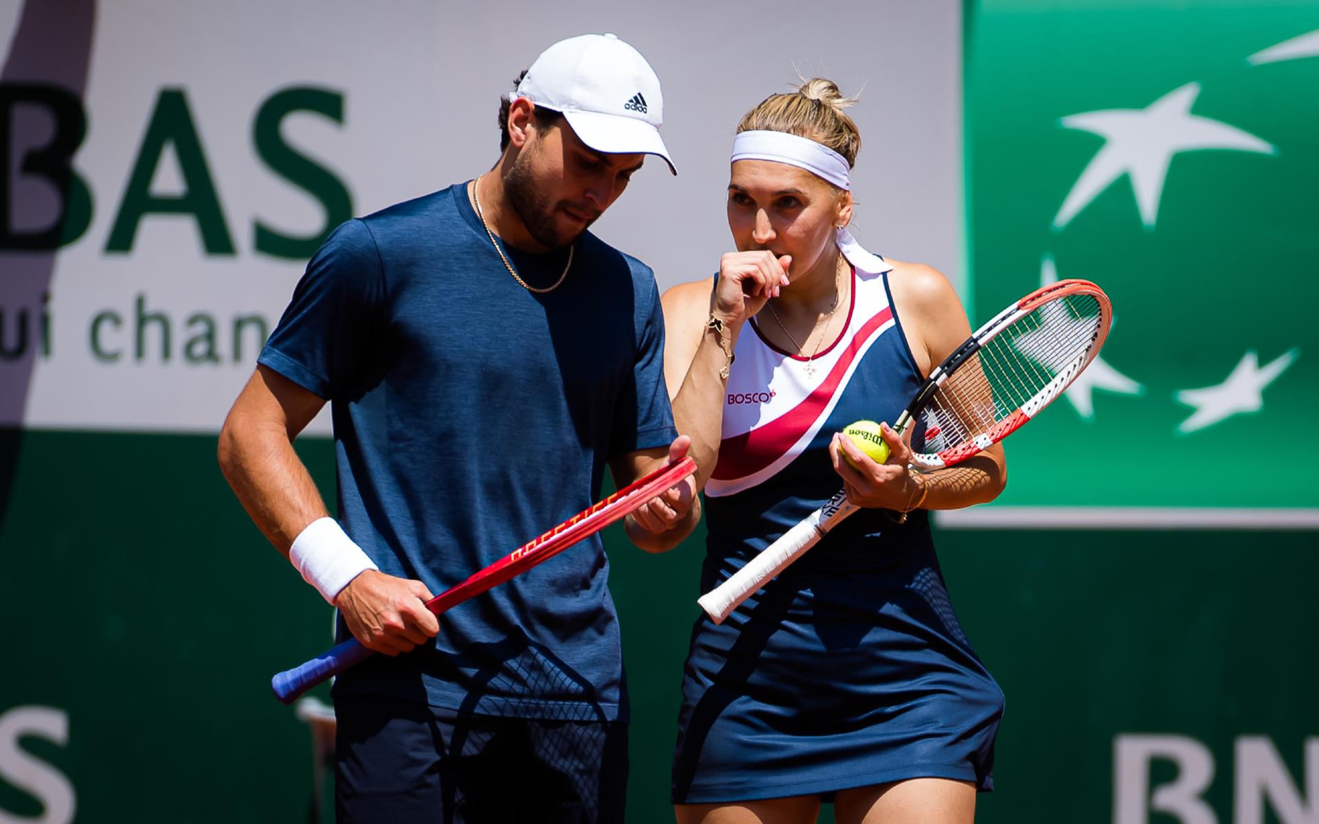 Фото: Аслан Карацев и Елена Веснина (Global Look Press)